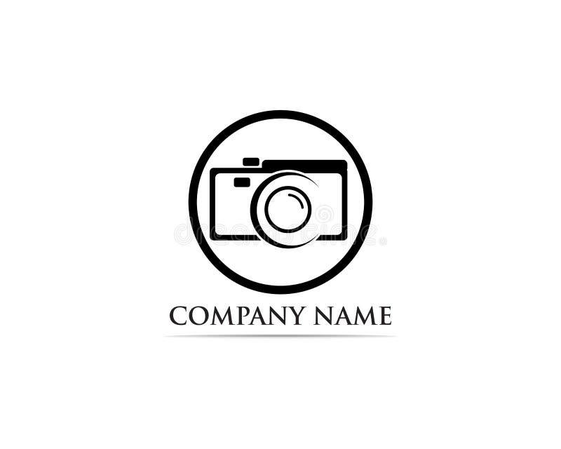 Fotografie-Logo Vector-Illustratorschwarzes lizenzfreie abbildung
