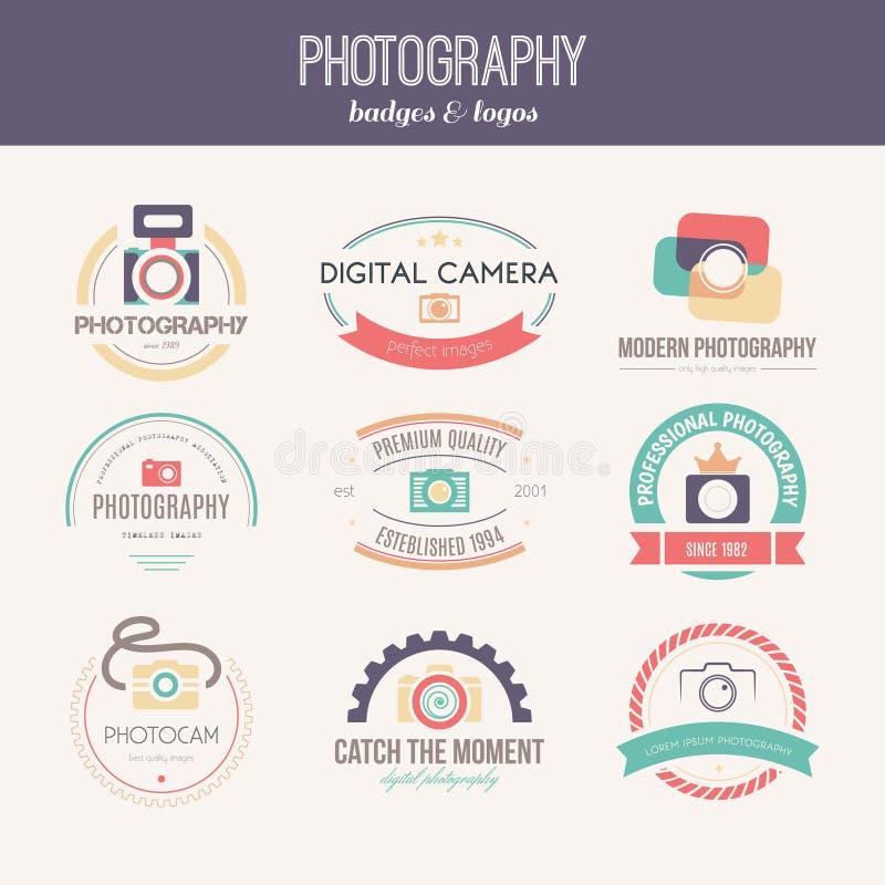 Fotografie-Logos stock abbildung