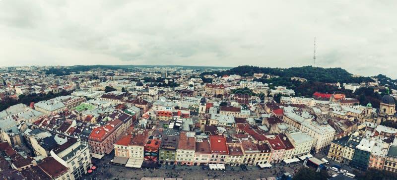 Fotografie miasto od above obraz stock