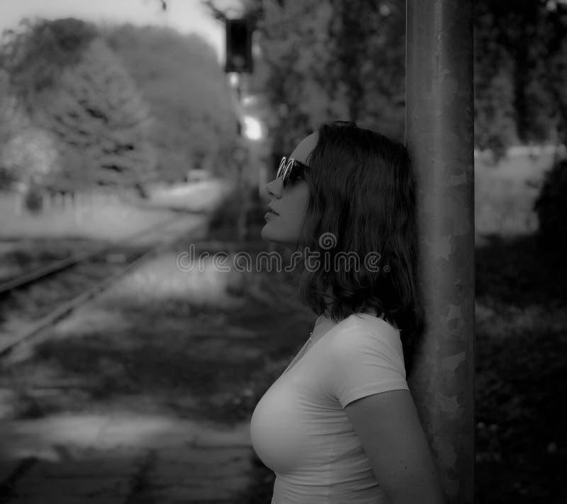Fotografie, schwarz, Schwarzweiss, Person lizenzfreie stockfotografie