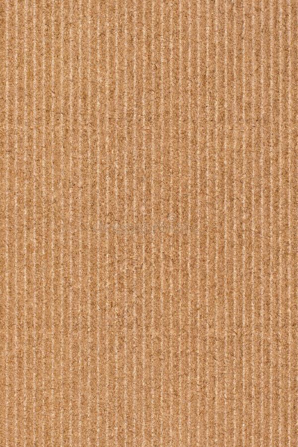 Fotografie von bereiten Grobkorn-gestreifte Brown-Kraftpapier-Schmutz-Beschaffenheit auf lizenzfreies stockfoto
