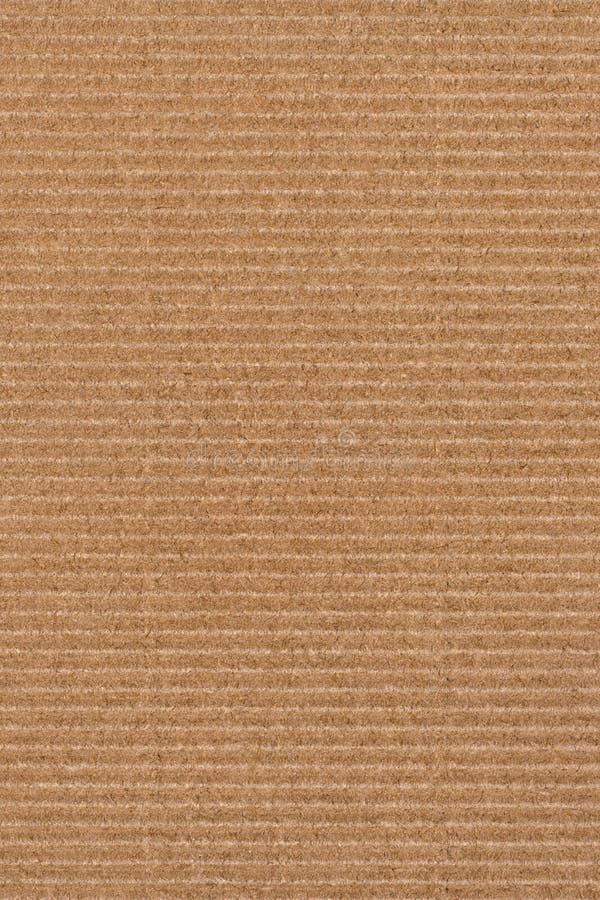 Fotografie von bereiten Grobkorn-gestreifte Brown-Kraftpapier-Schmutz-Beschaffenheit auf lizenzfreies stockbild