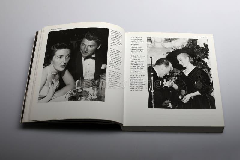 Fotografieboek door Nick Yupp, Ronald en Nancy Reagan royalty-vrije stock afbeelding