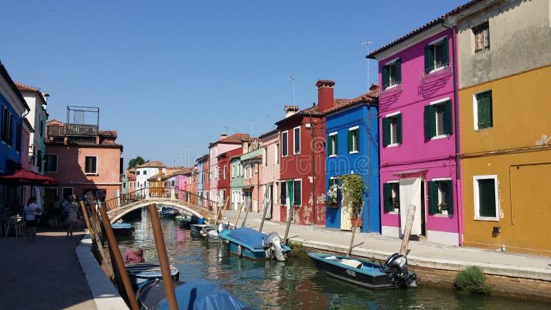 Fotografien eines Wegs in Venedig stockbilder
