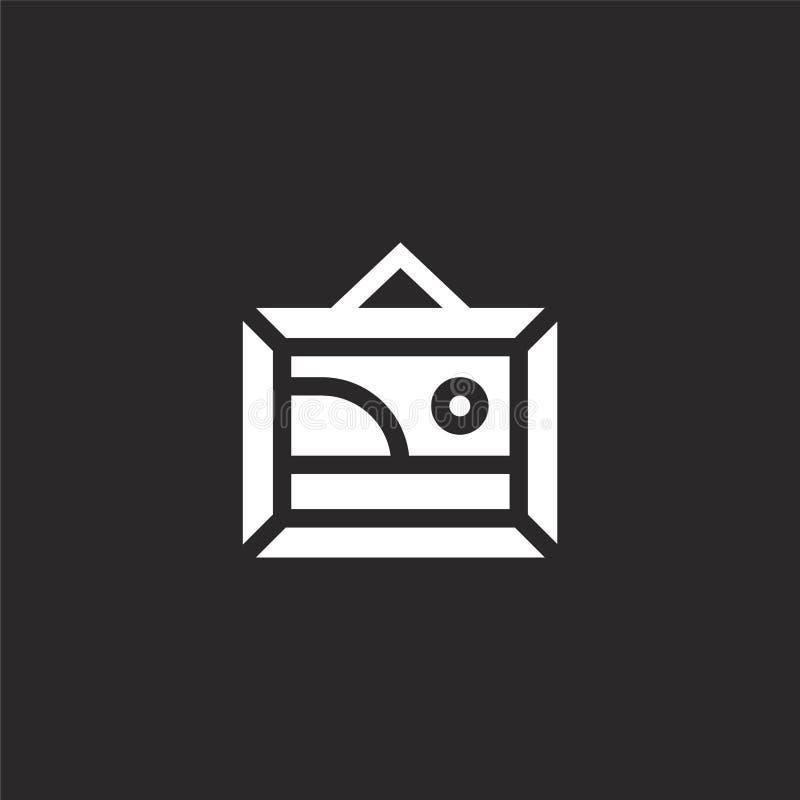Fotografiepictogram Gevuld fotografiepictogram voor websiteontwerp en mobiel, app ontwikkeling fotografiepictogram van gevulde fo royalty-vrije illustratie