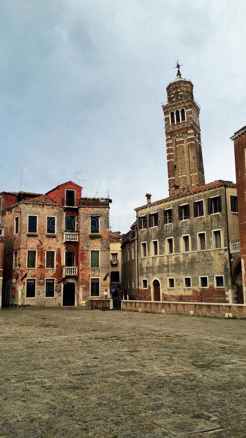 Fotografier av går i Venedig royaltyfria bilder