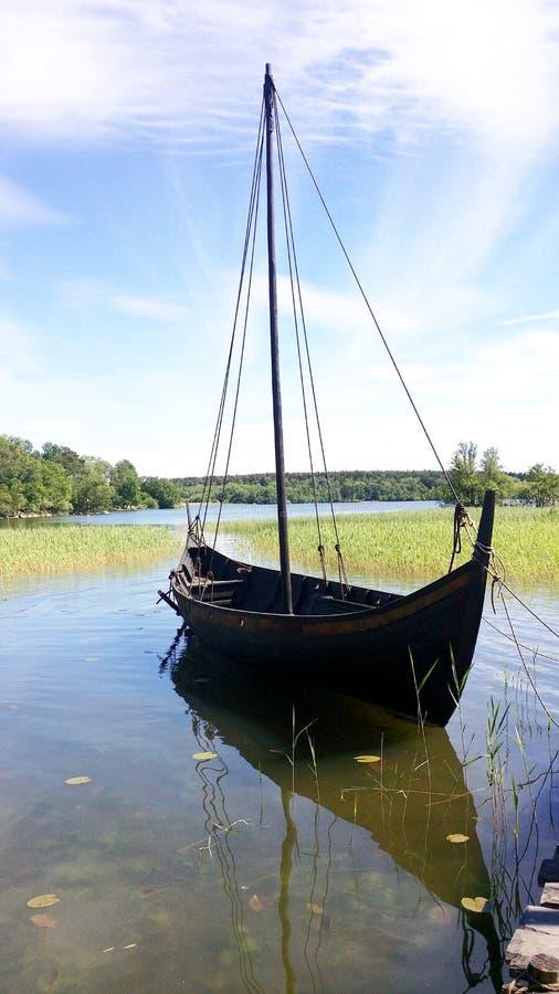 Fotografier av vikingfartyg royaltyfria bilder