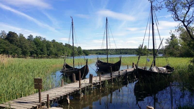 Fotografier av vikingfartyg royaltyfria foton