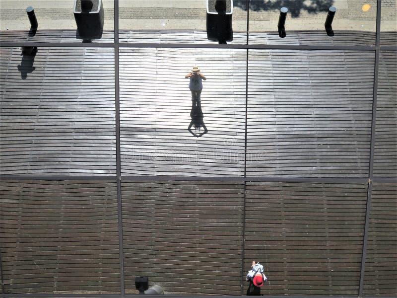 Fotografieren der Decke des Gebäudes lizenzfreies stockfoto
