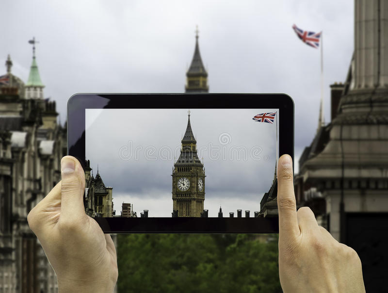 Fotografieren von Big Ben lizenzfreies stockbild