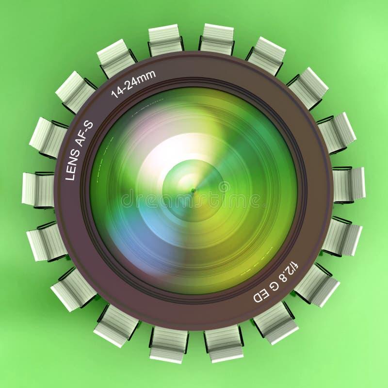Fotografievergadering vector illustratie