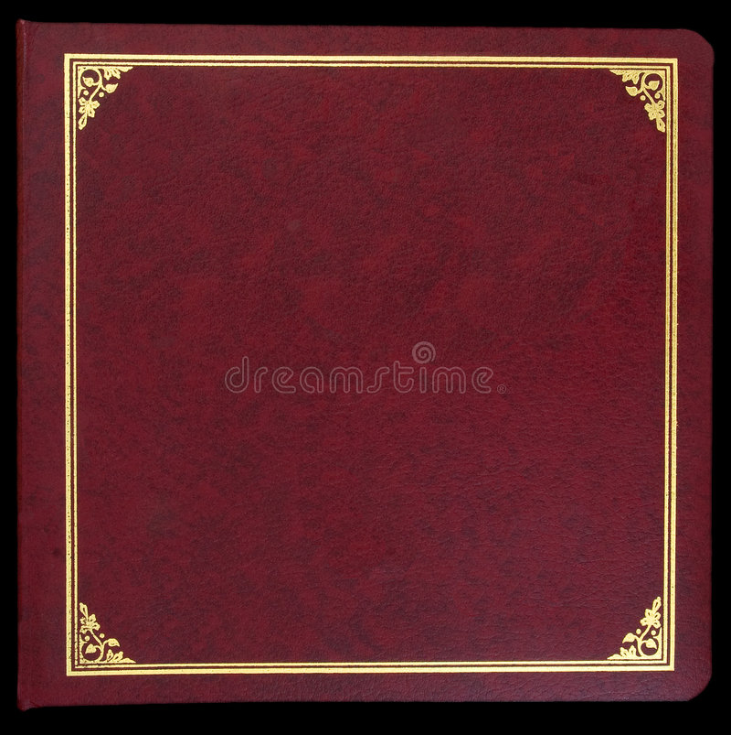 fotografii albumowa czerwień zdjęcie stock