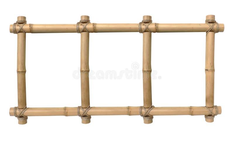 Fotografii bambusowa rama obraz stock