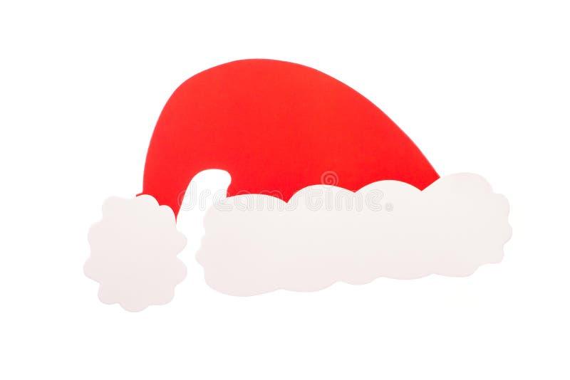 fotografii budka Santa Claus kapelusz odizolowywający fotografia royalty free