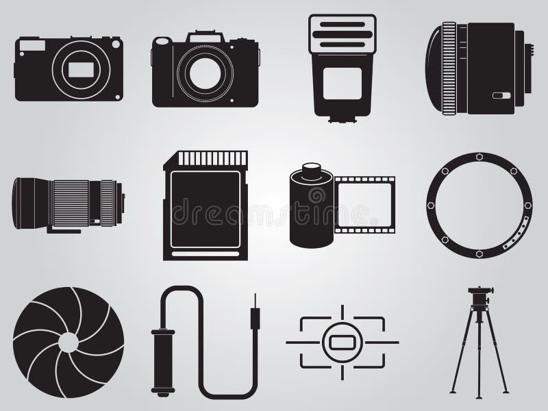 Fotografii ikony ustawiać ilustracji