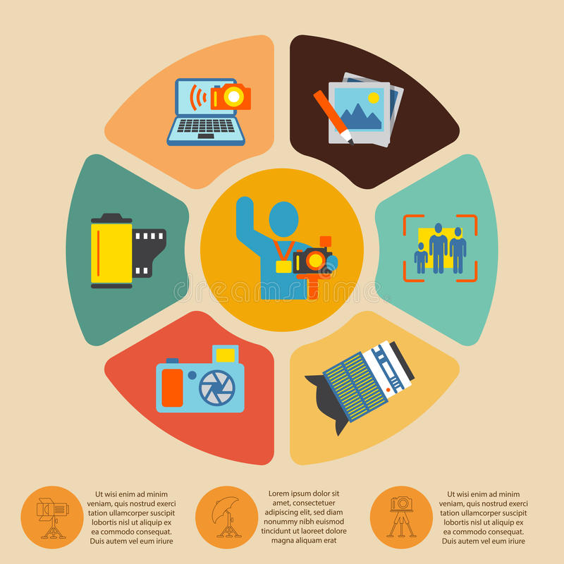 Fotografii infographics set ilustracja wektor