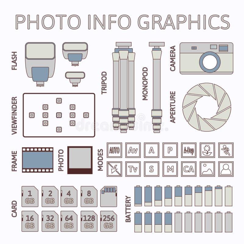 Fotografii infographics set, część jeden royalty ilustracja