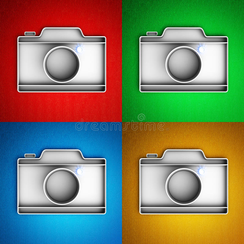 Fotografii kamery ikona royalty ilustracja