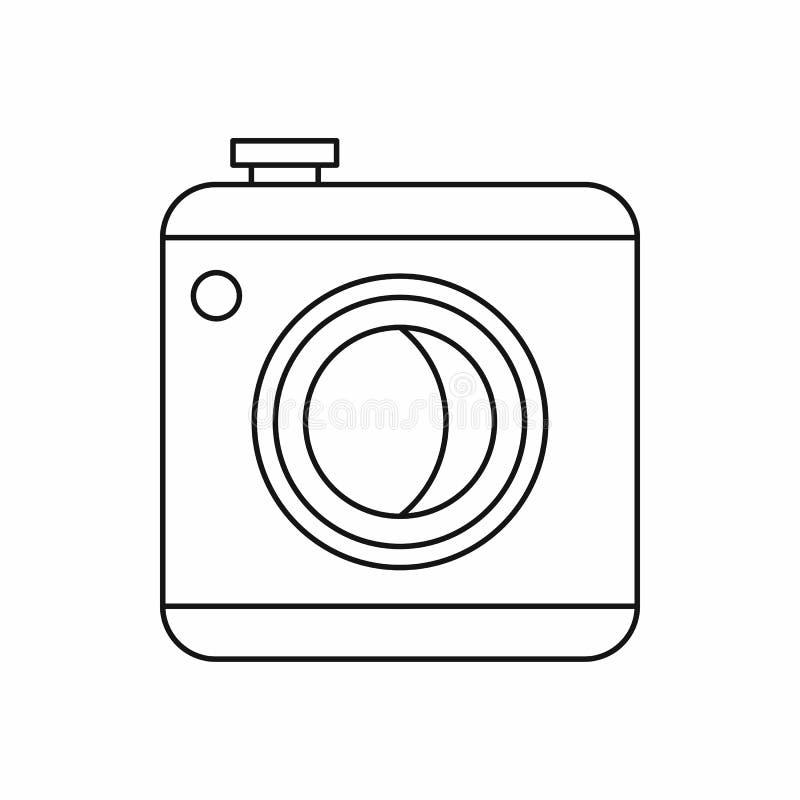 Fotografii kamery ikona, konturu styl ilustracji