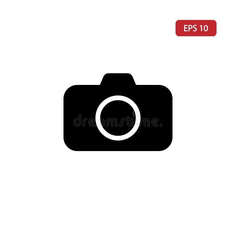 Fotografii kamery ikona, obrazka symbol Wp8lywy wizerunku znak odizolowywający na białym tle dla sieci i graficznego projekta royalty ilustracja