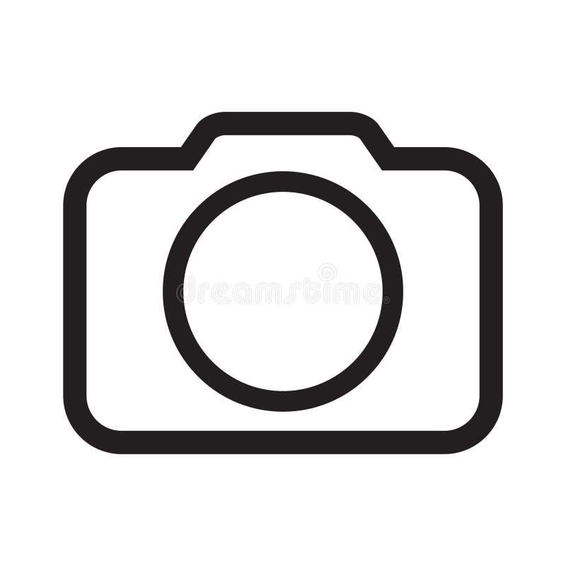 Fotografii kamery ikony wektor royalty ilustracja