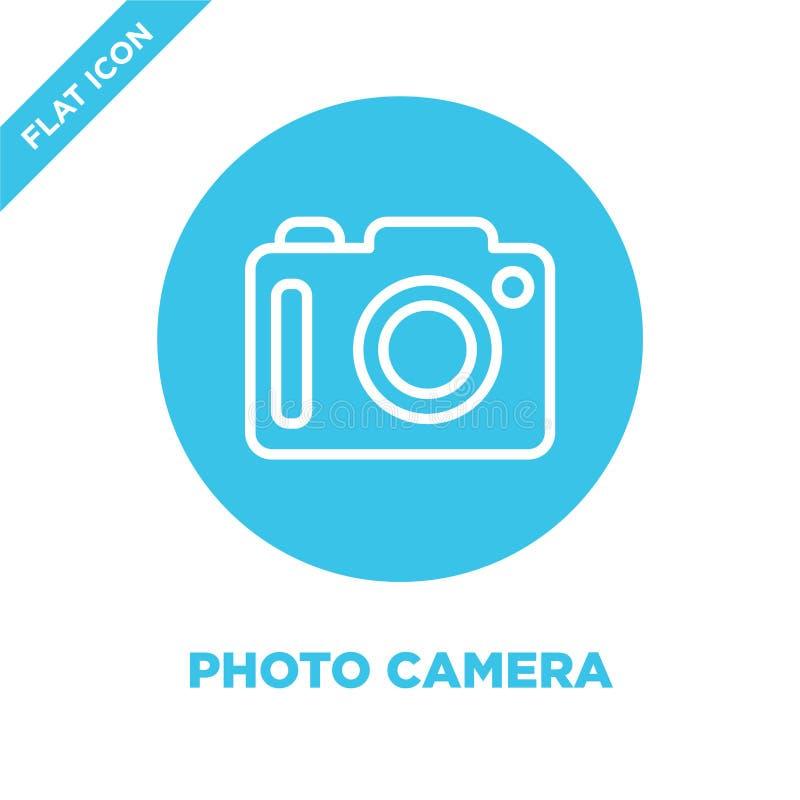 fotografii kamery ikony wektor od sezonów inkasowych Cienka kreskowa fotografii kamery konturu ikony wektoru ilustracja Liniowy s royalty ilustracja