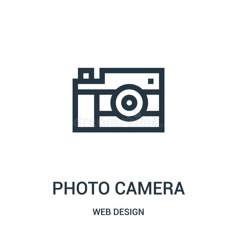fotografii kamery ikony wektor od sieć projekta kolekcji Cienka kreskowa fotografii kamery konturu ikony wektoru ilustracja royalty ilustracja