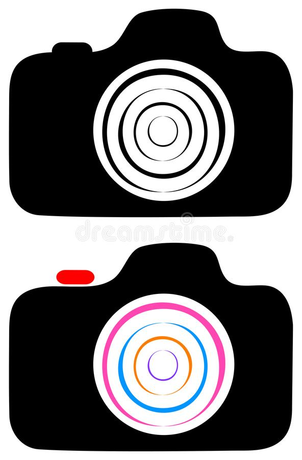 Fotografii kamery klamerki sztuki logo ilustracja wektor