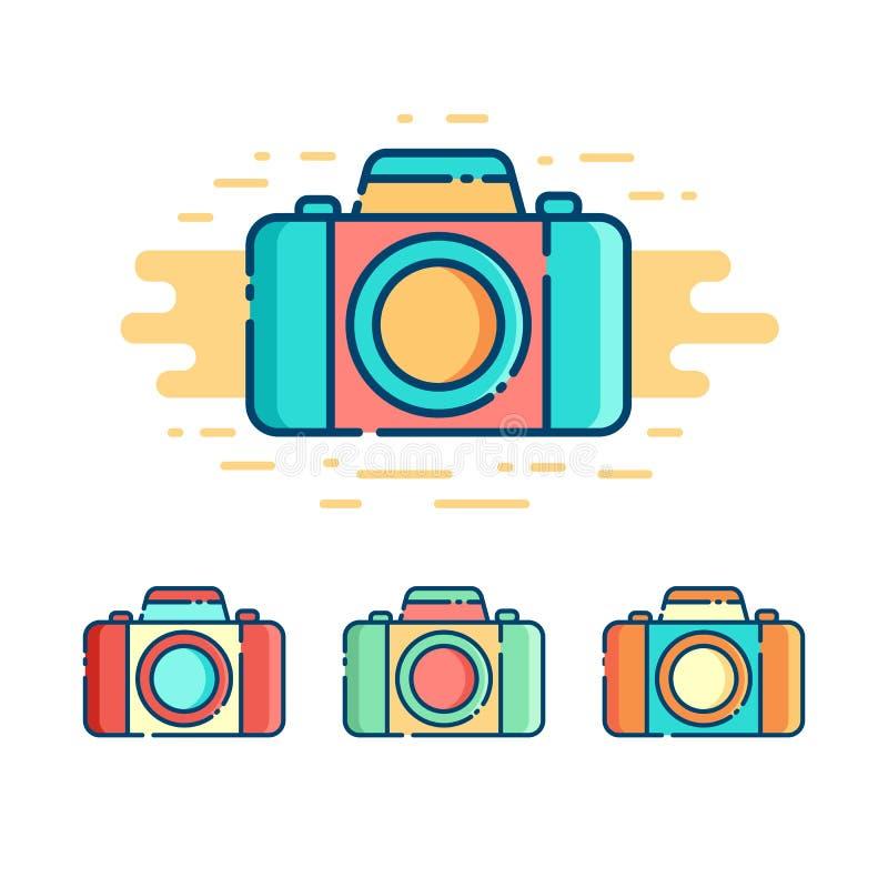 Fotografii kamery logo ilustracja wektor