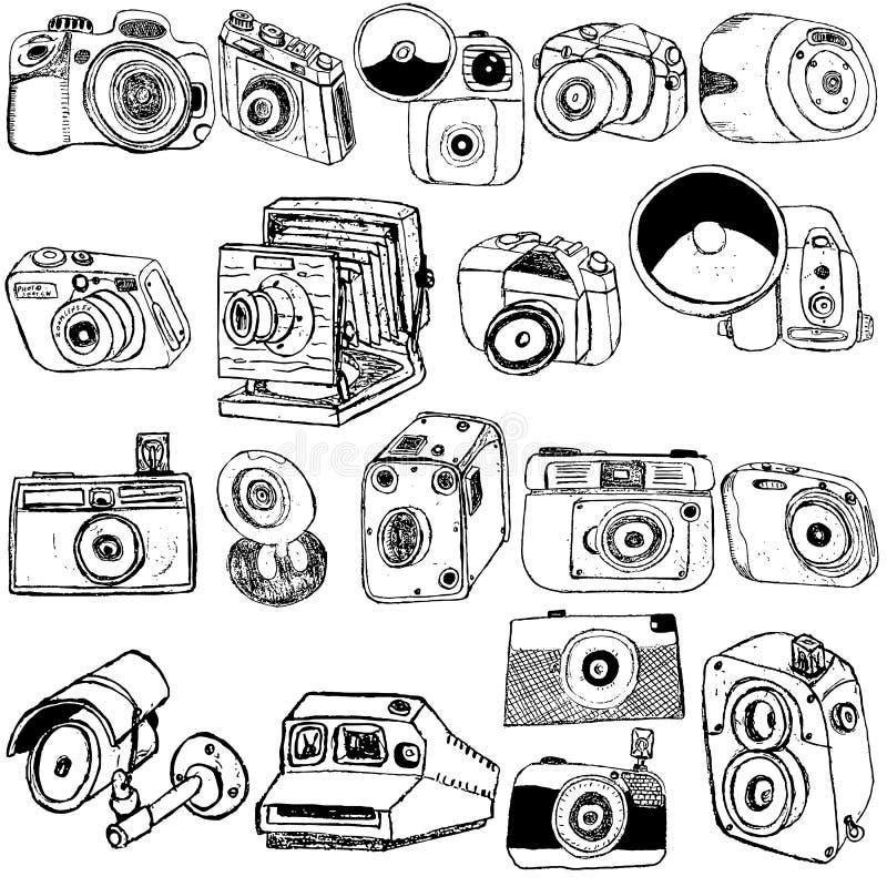 Fotografii kamery nakreślenie royalty ilustracja