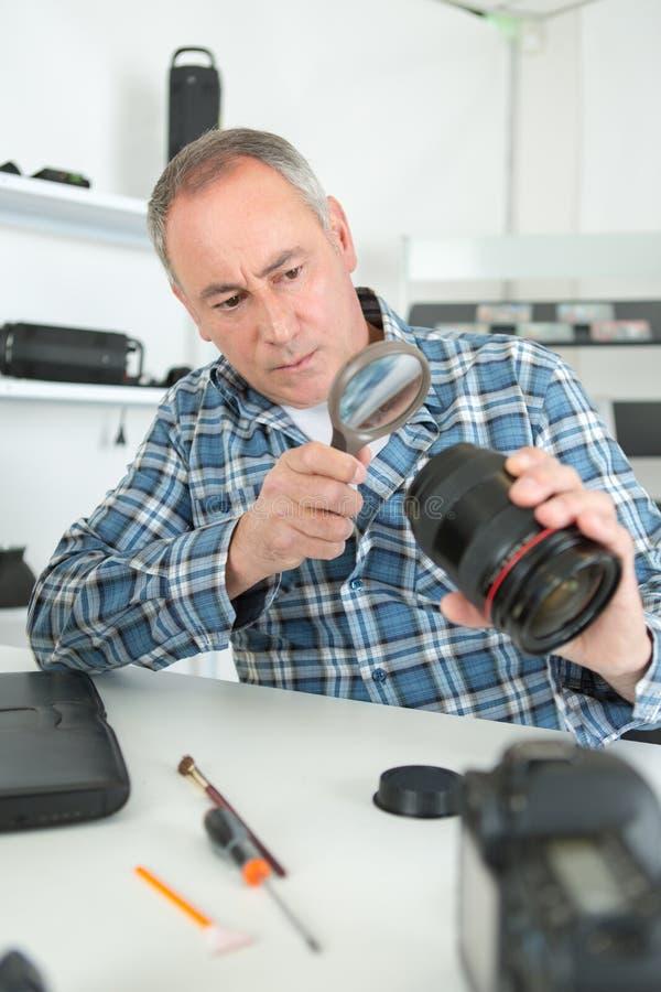 Fotografii kamery obiektywu naprawa zdjęcia royalty free