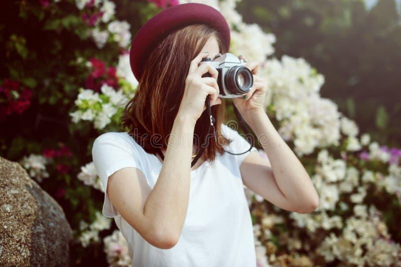 Fotografii kamery stylu życia Przypadkowy Chłodzi pojęcie fotografia stock