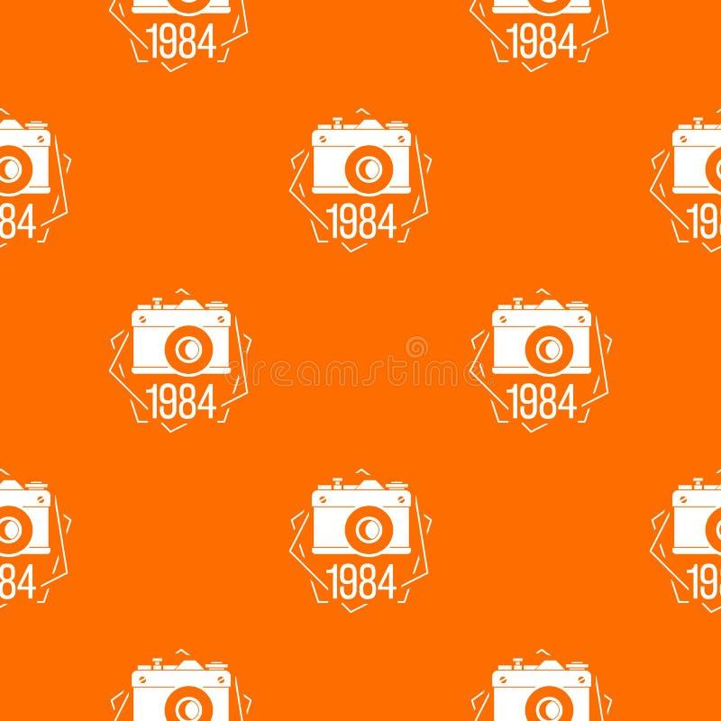 1984 fotografii kamery wzoru wektoru pomarańcze ilustracja wektor