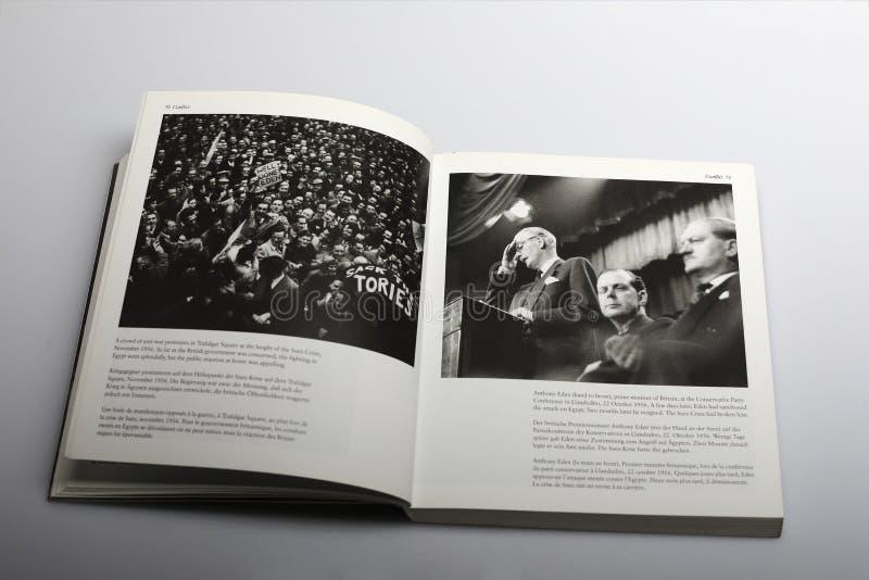 Fotografii książka Nick Yapp, Anthony Eden, pierwszorzędny minister Brytania w 1956 zdjęcia royalty free