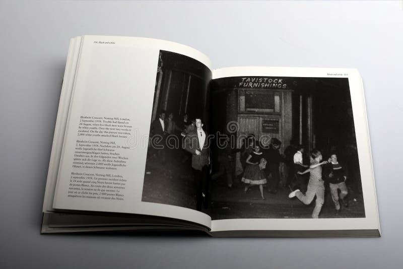 Fotografii książka Nick Yapp, Blenheim półksiężyc, Notting Wzgórze, Londyn, 1958 zdjęcia royalty free