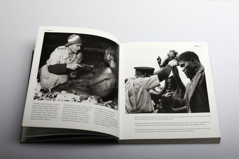 Fotografii książka Nick Yapp, Kenii strefa działań wojennych obrazy royalty free