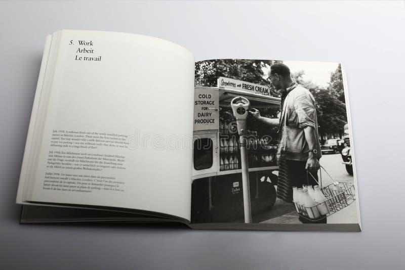 Fotografii książka Nick Yapp, parking metr w Londyn 1958 obrazy stock
