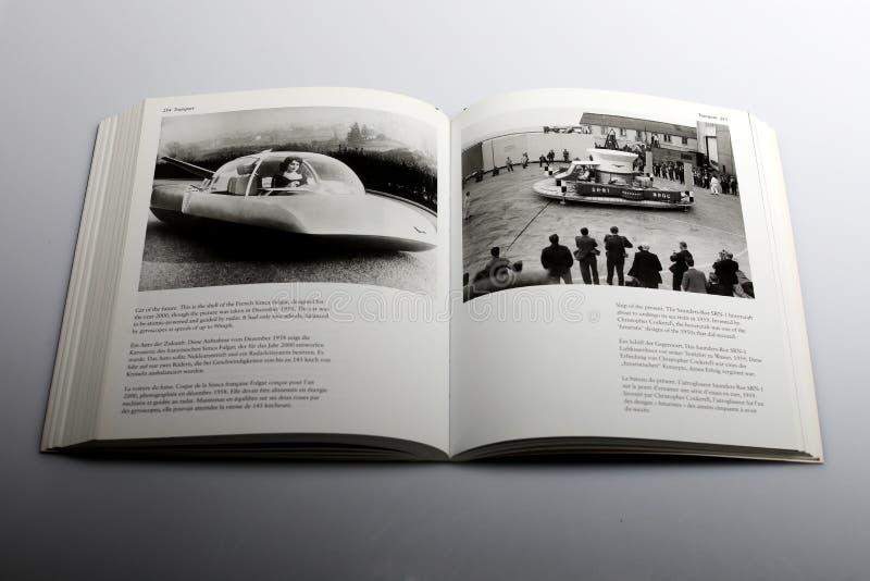 Fotografii książka Nick Yapp, samochód przyszłość projektująca dla roku 2000 zdjęcie royalty free