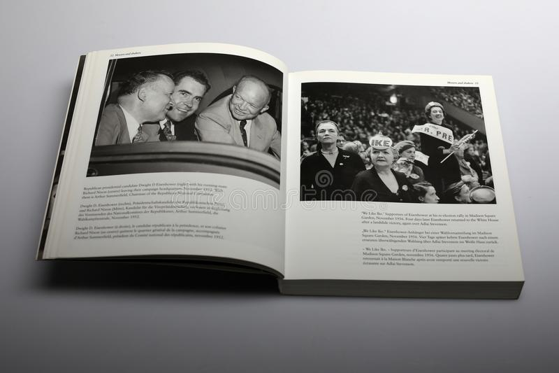 Fotografii książka Nick Yupp, Richard Nixon i zwolennikami Eisenhower, zdjęcie stock