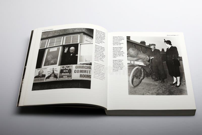 Fotografii książka Nick Yupp, Winston Churchill i Margaret Roberts opóźniony Thather, zdjęcia royalty free