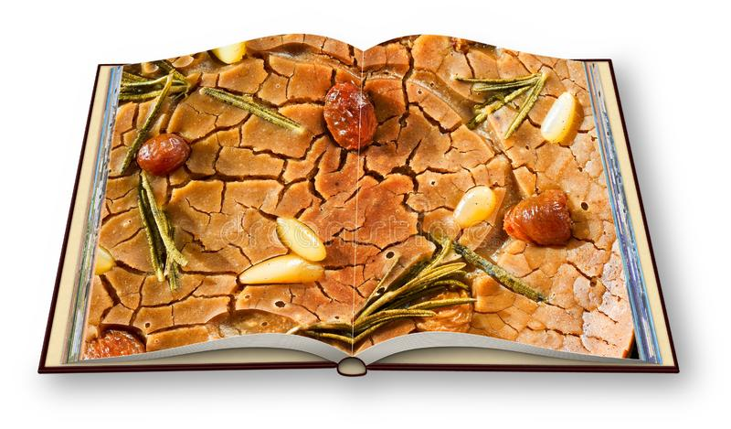 Fotografii książka Włoscy deserowi przepisy - Typowy mroźny cukierki ita ilustracja wektor
