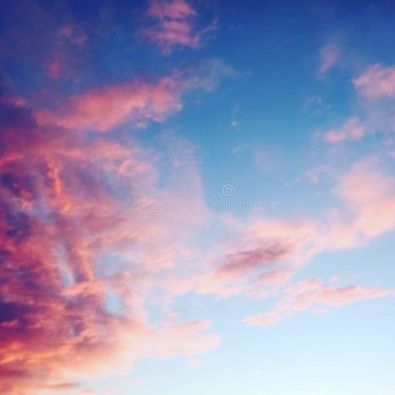 Fotografii niebo w różowym popołudniu obrazy royalty free