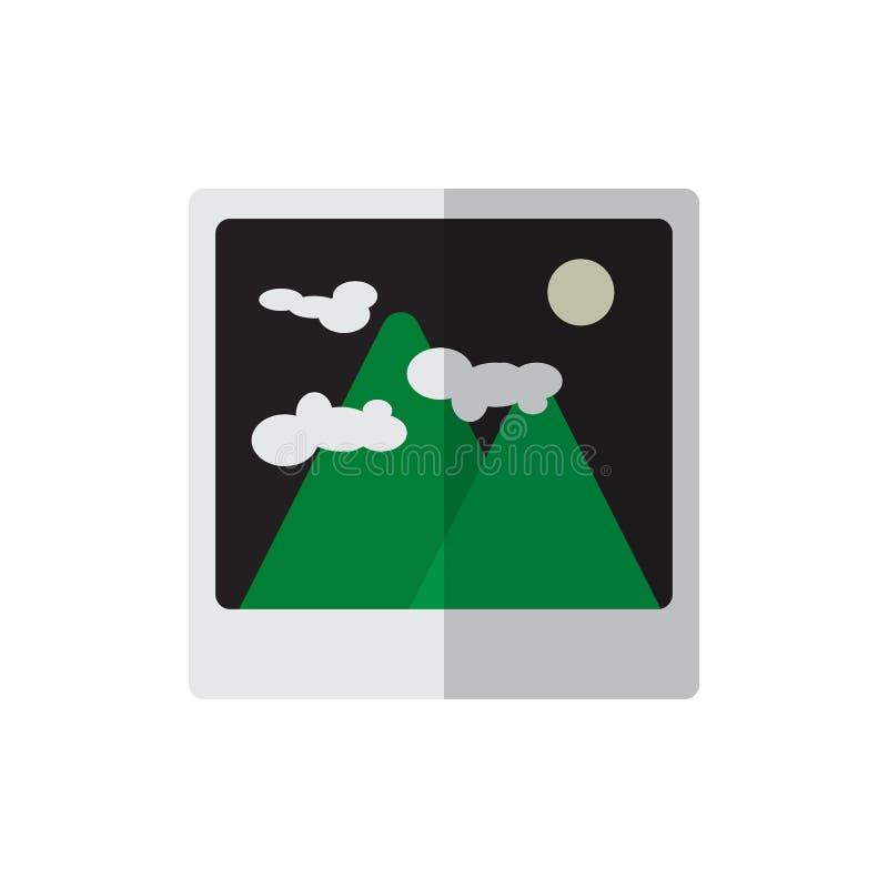 Fotografii płaska ikona, wypełniający wektoru znak, kolorowy piktogram odizolowywający na bielu royalty ilustracja