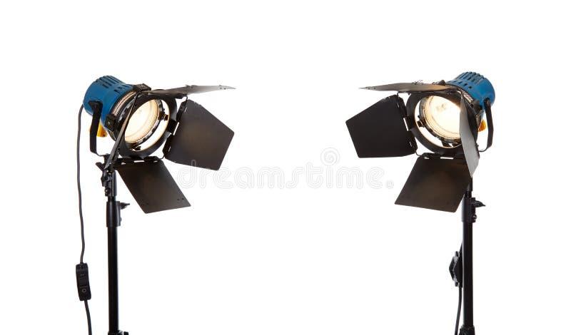 Fotografii pracowniany oświetleniowy wyposażenie obrazy stock