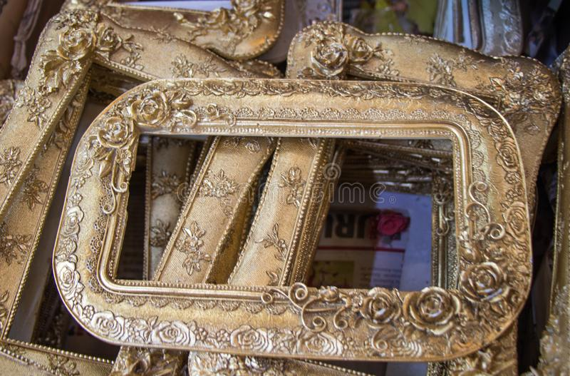 Fotografii rama robić drewniany materiał zdjęcia royalty free