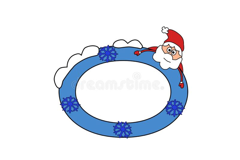 Fotografii rama, zaproszenie projekta tło Kartka z pozdrowieniami szablon, kolor ilustracja Santa i zima EPS kartoteka dost?pna royalty ilustracja