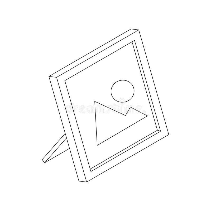 Fotografii ramowa ikona, isometric 3d styl royalty ilustracja