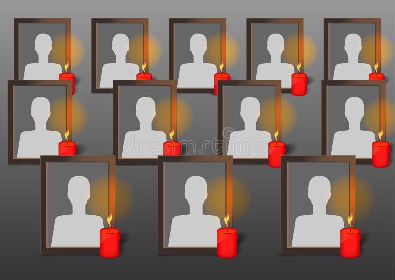 Fotografii ramy z świeczkami ilustracja wektor