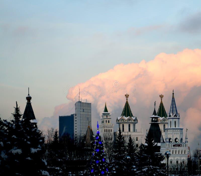 Fotografii tło piękny z Rosyjskim Kremlin obraz royalty free