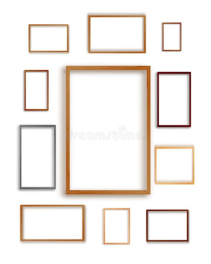 Fotografii tekstury ramowi sety odizolowywający na białym tle ilustracja wektor